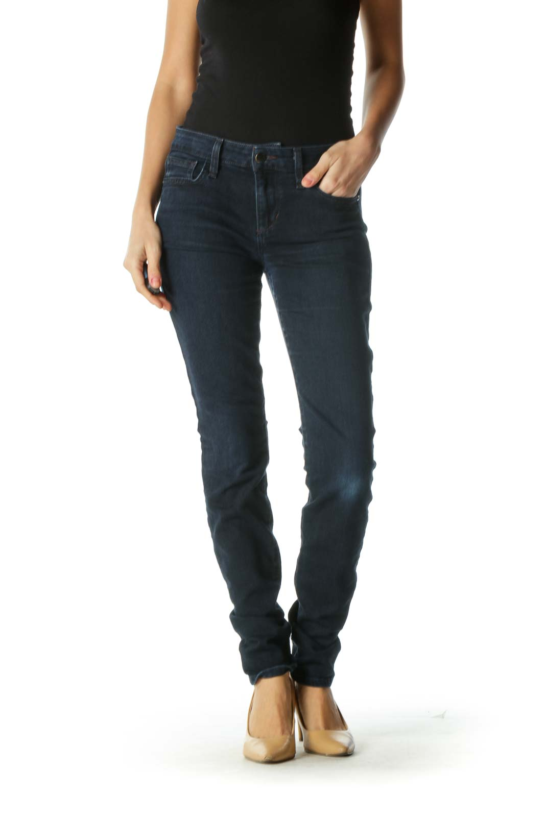 Blue Dark Wash Skinny Jeans