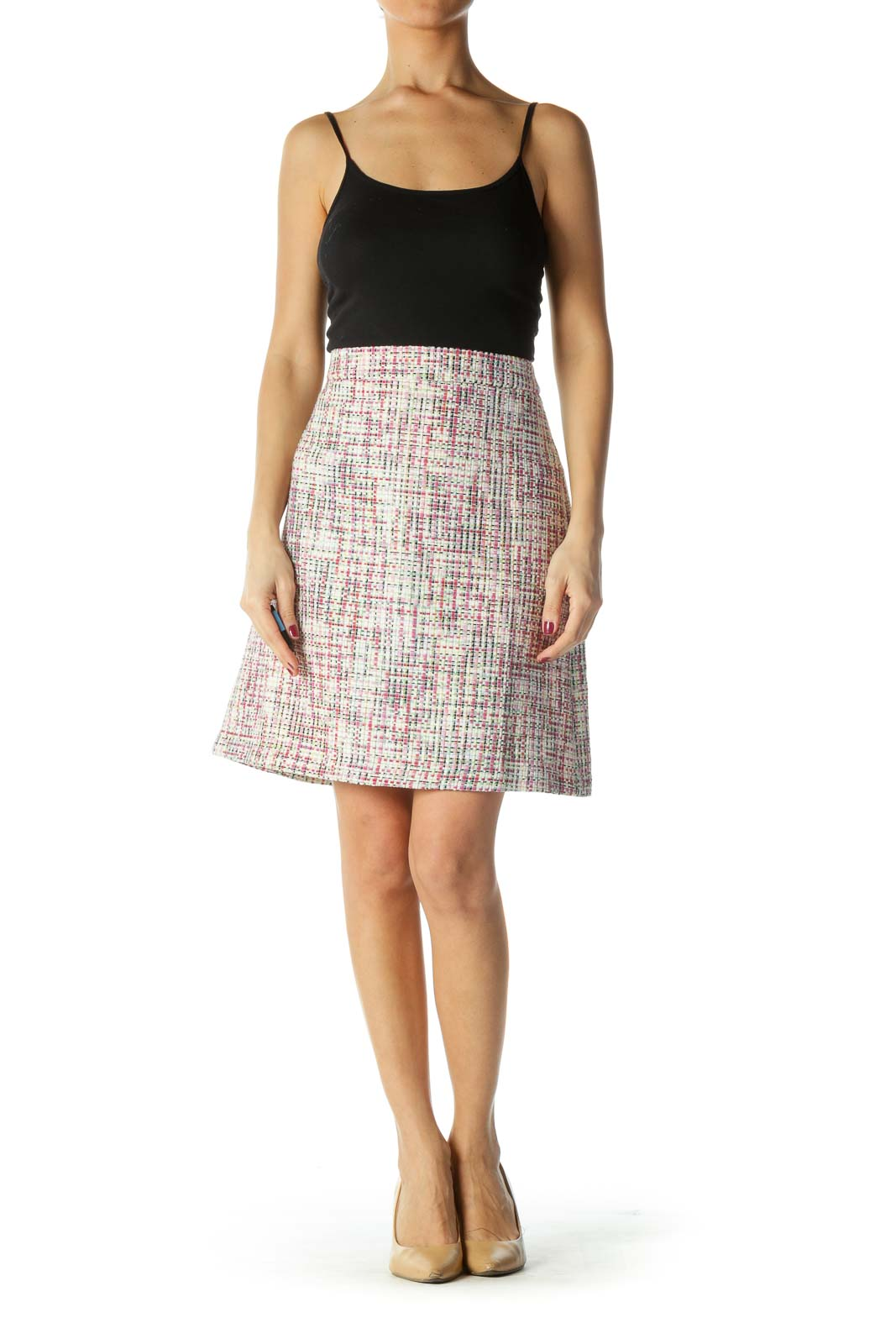 Multicolor Knit Pencil Skirt