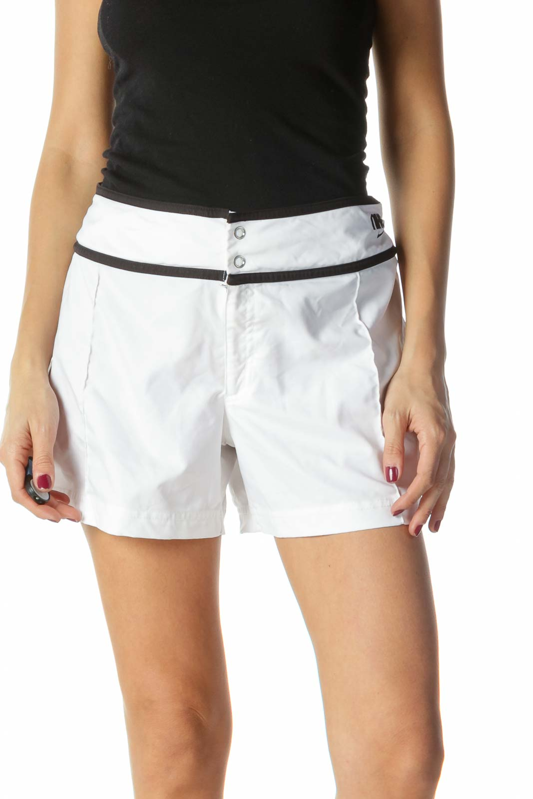 Black and White Sports Shorts