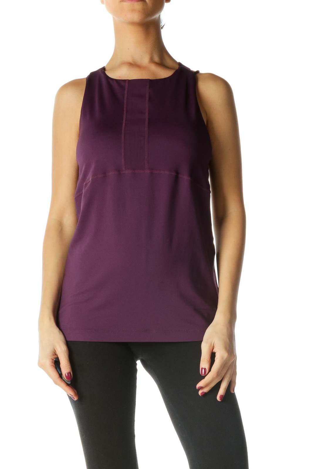 Purple Activewear Tank Top