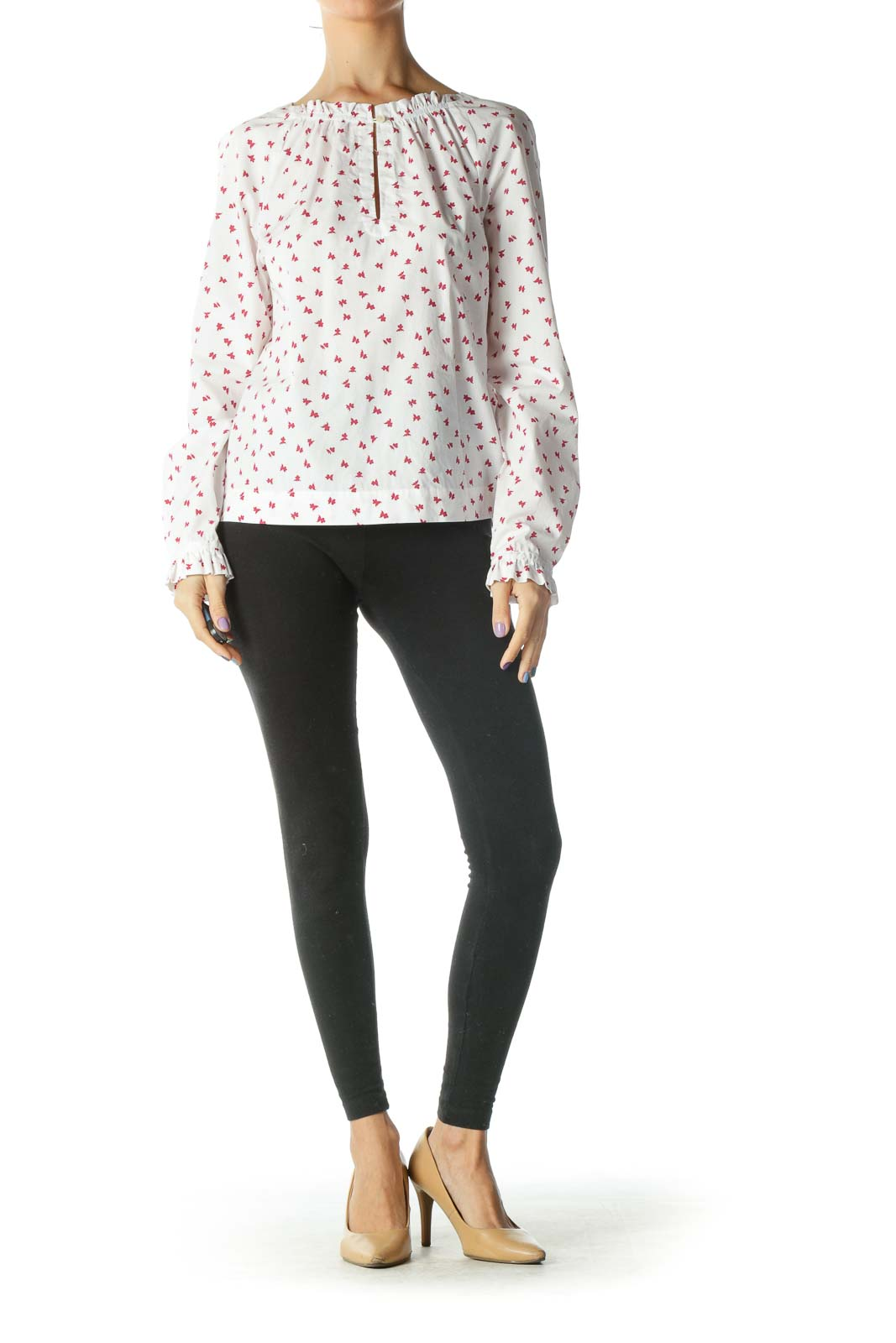Pink and Red Printed Single front Button Shirt