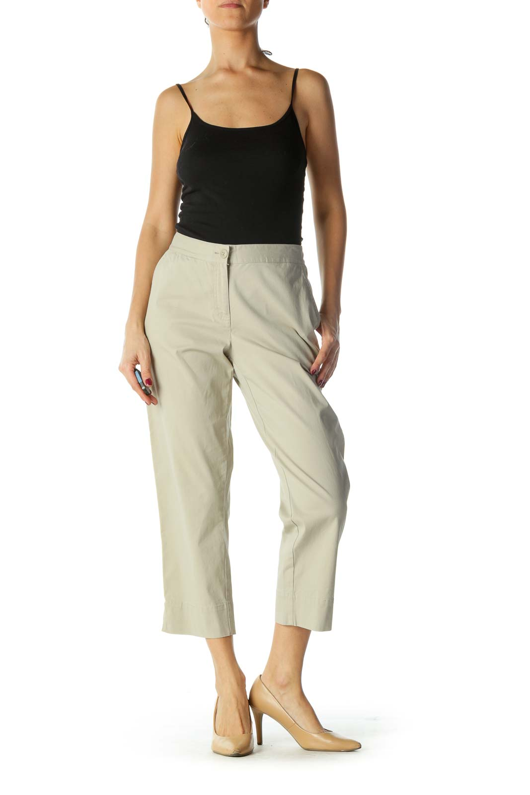 Brown Cropped Pants