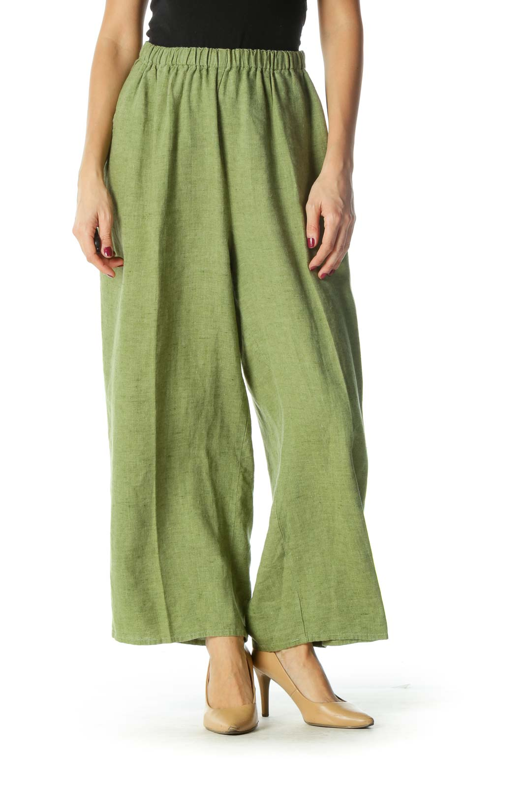 Green Wide-Leg Pants