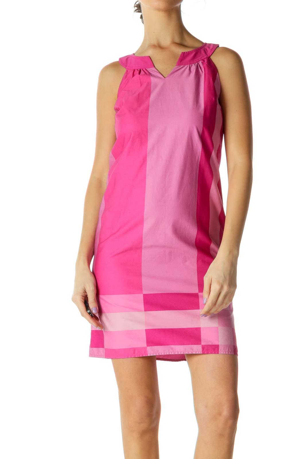 Pink Striped Shift Dress