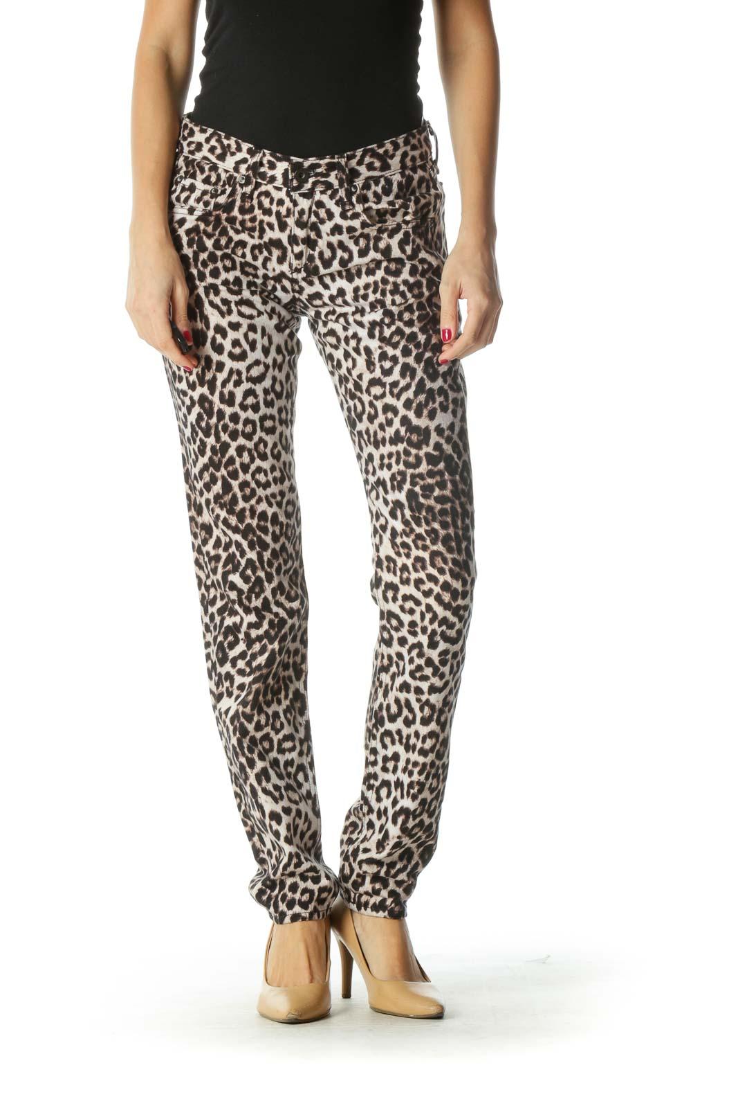 Brown Cheetah Print Pants