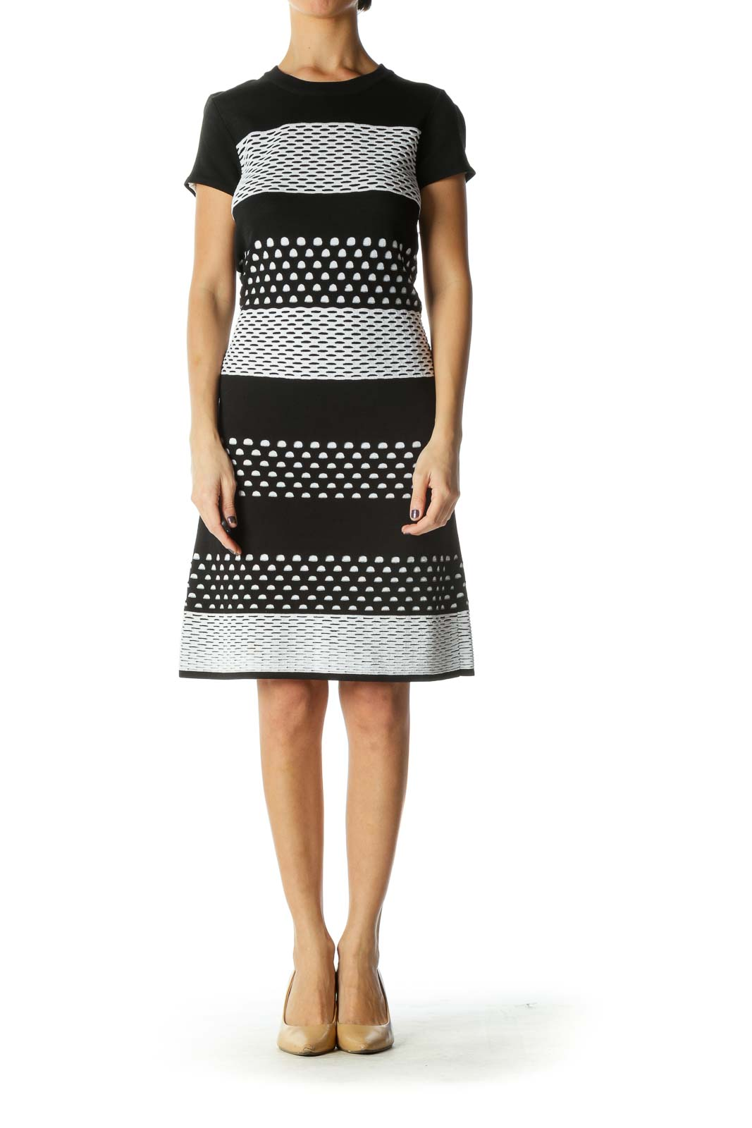 Black and White Knit Dress [S]