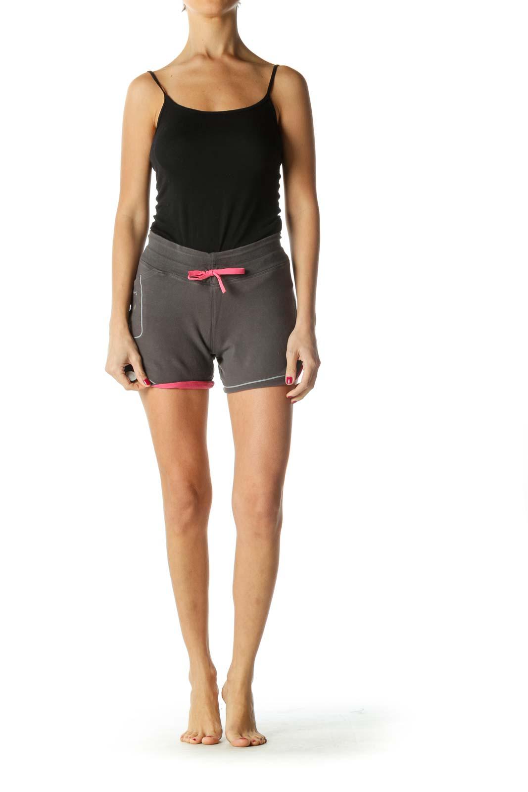 Gray and Pink Active Shorts