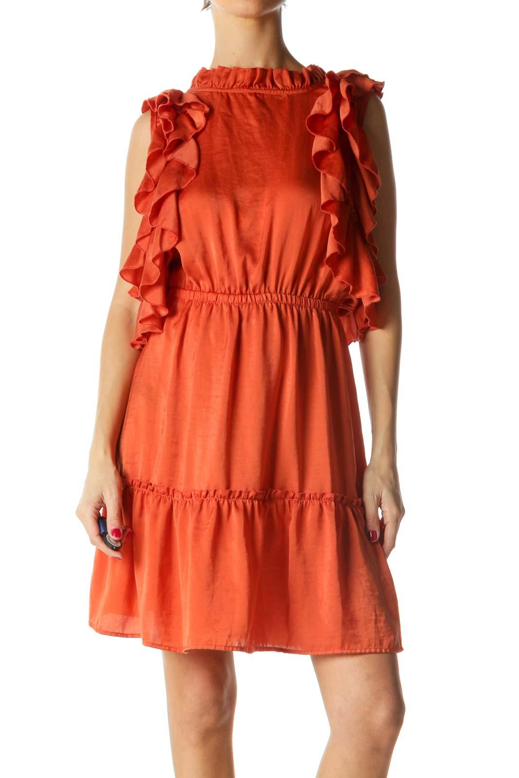 Orange Ruffled Dress