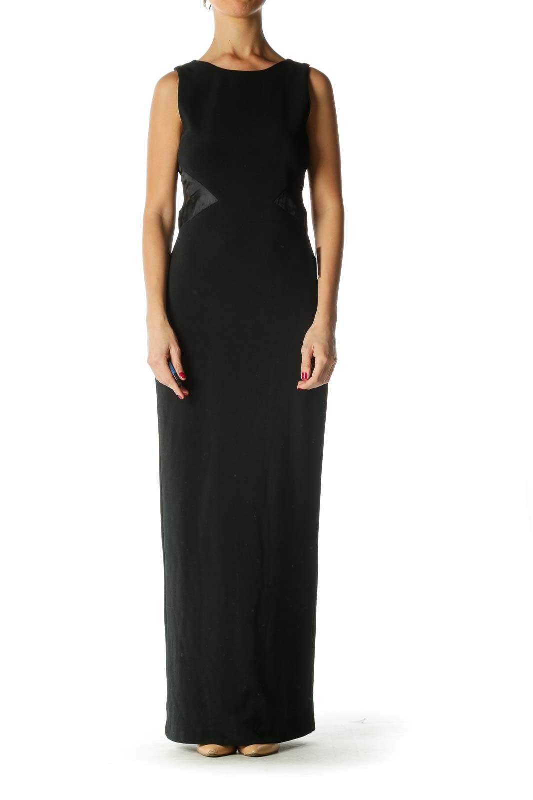 Black Cut-Out Maxi Dress
