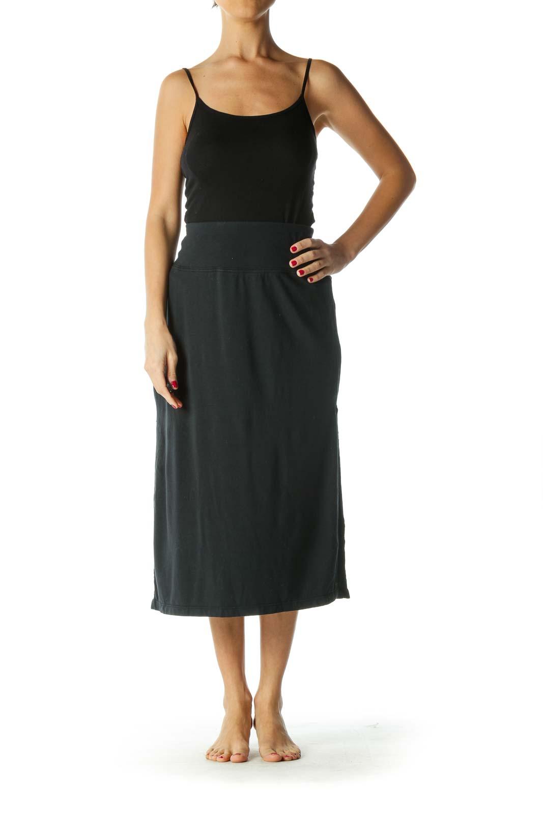 Blue Open-Leg Stretch Active Skirt