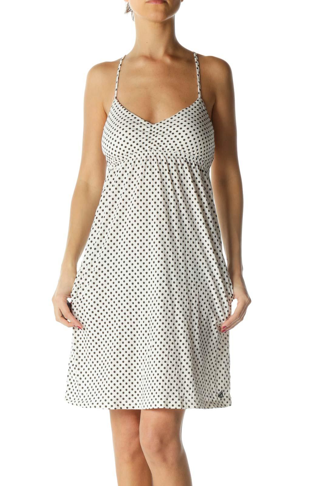 Black and White Polka-Dot Dress