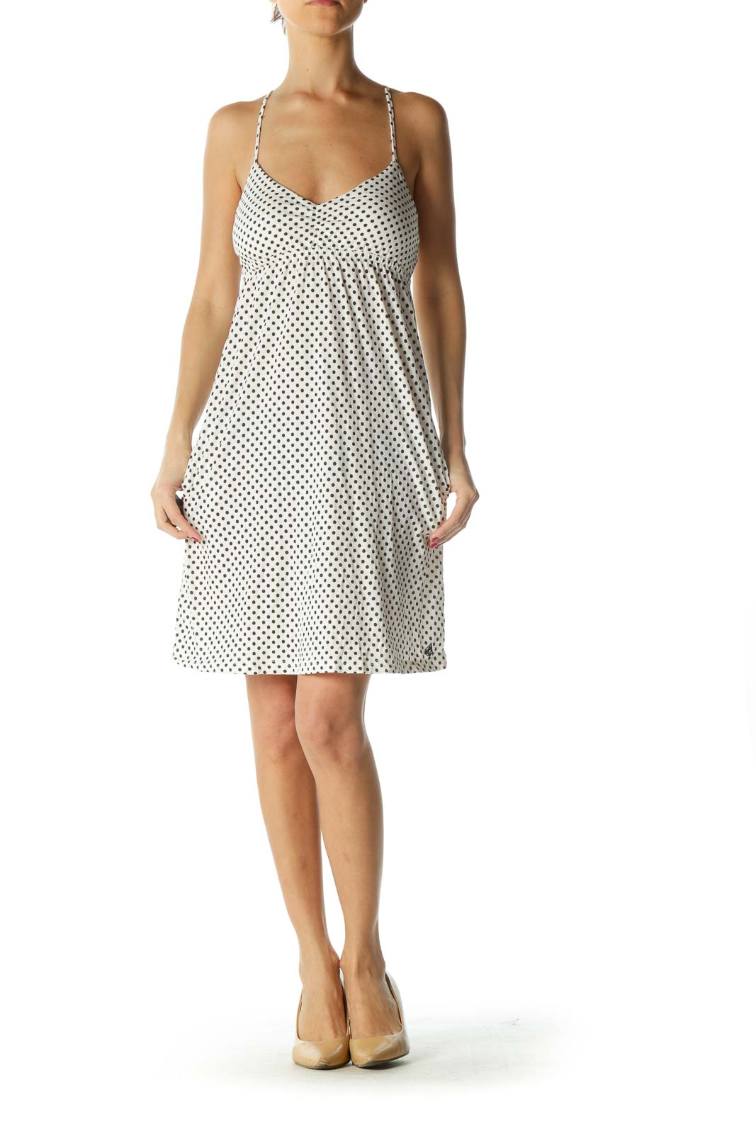 Black and White Polka-Dot Dress