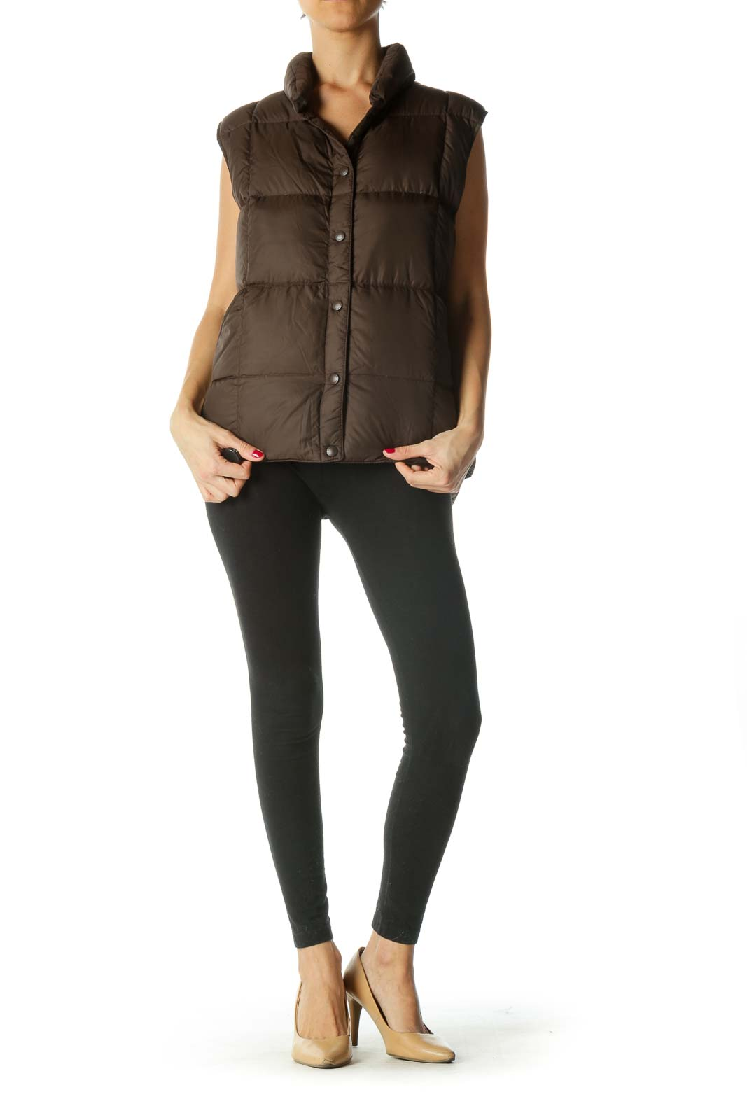 Brown Buttoned Down Vest