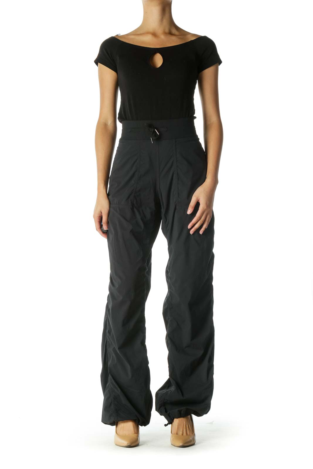 Black Active wear Sweat Pants