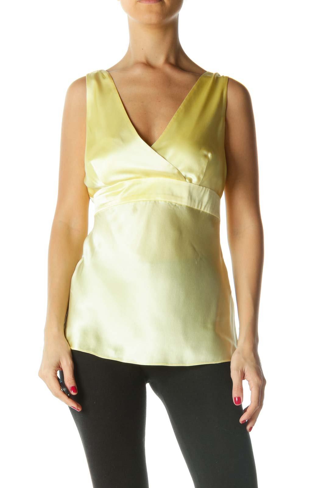 Yellow Silk Tank Top