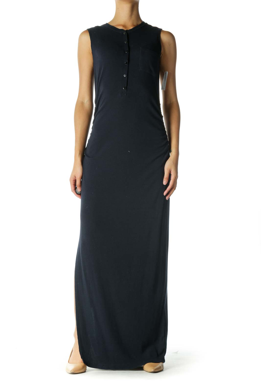 Navy Sleeveless Maxi Dress