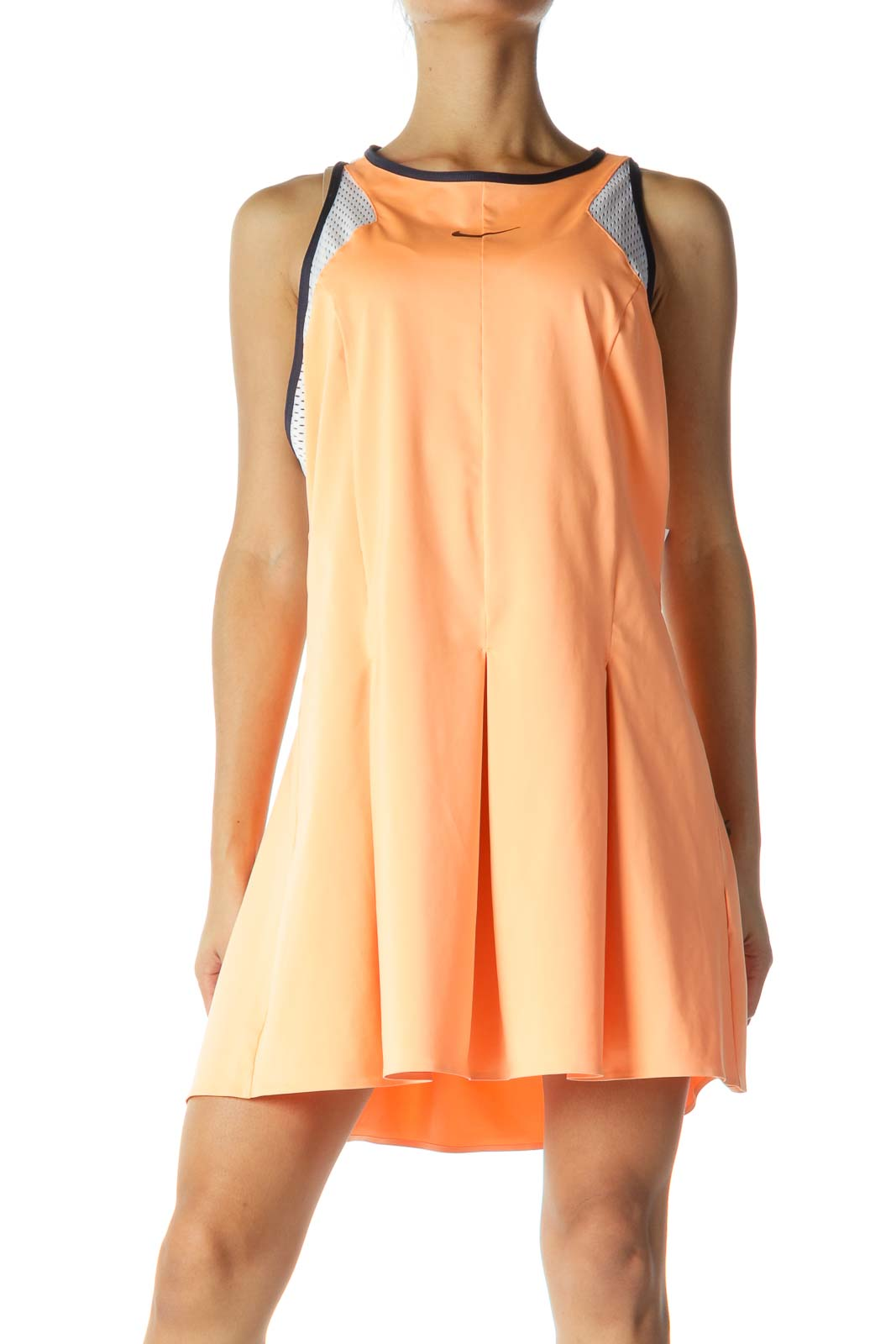 Orange and White Pleated Tennis Dress
