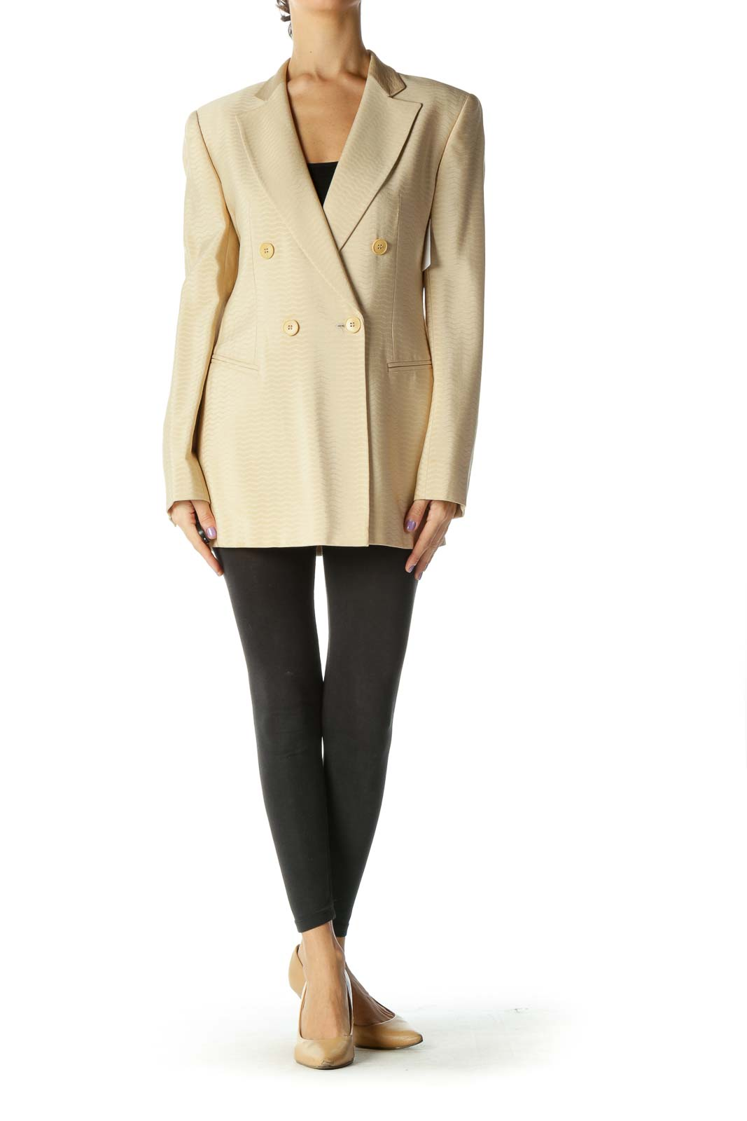 Beige Long Blazer
