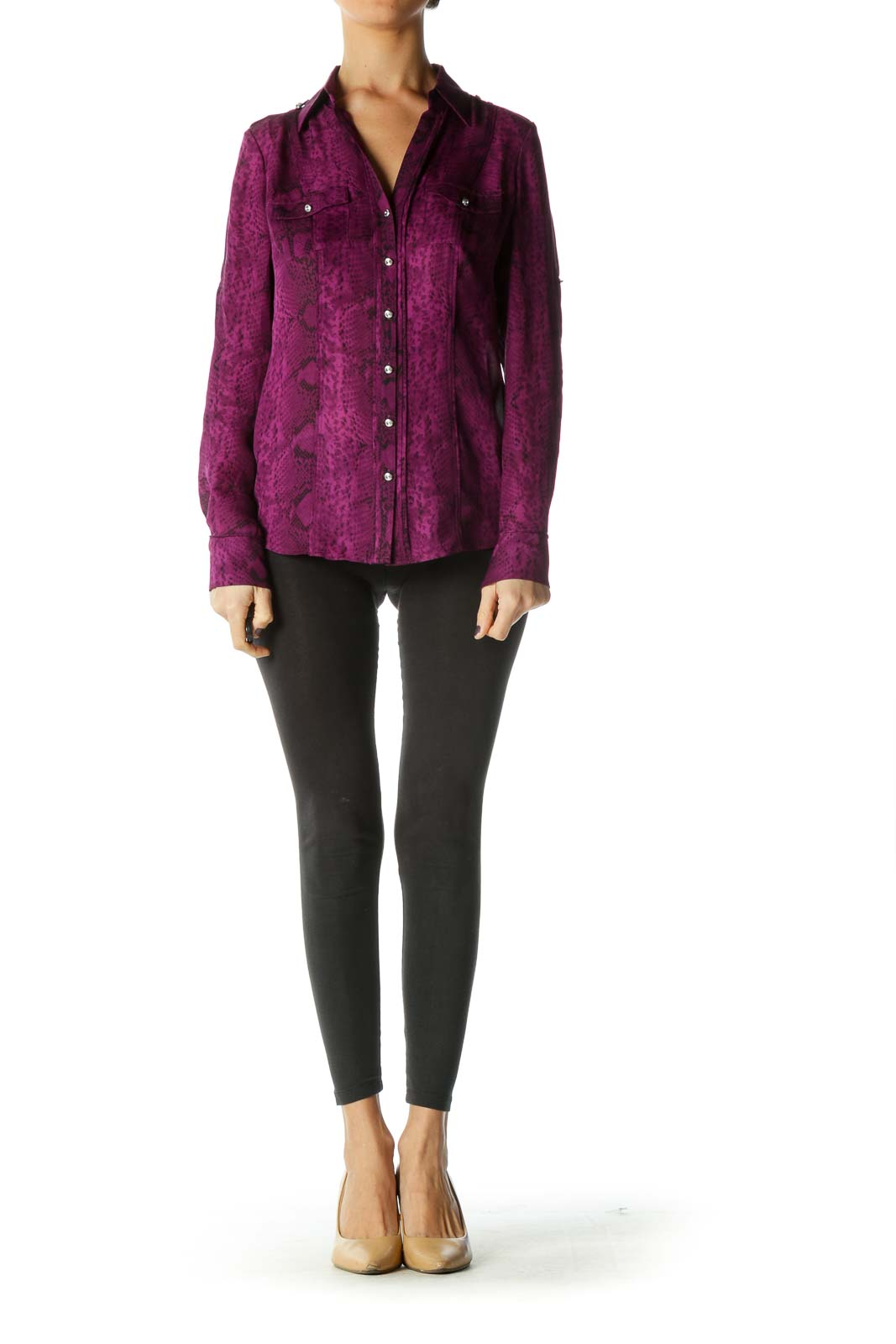 Purple Animal Print Blouse