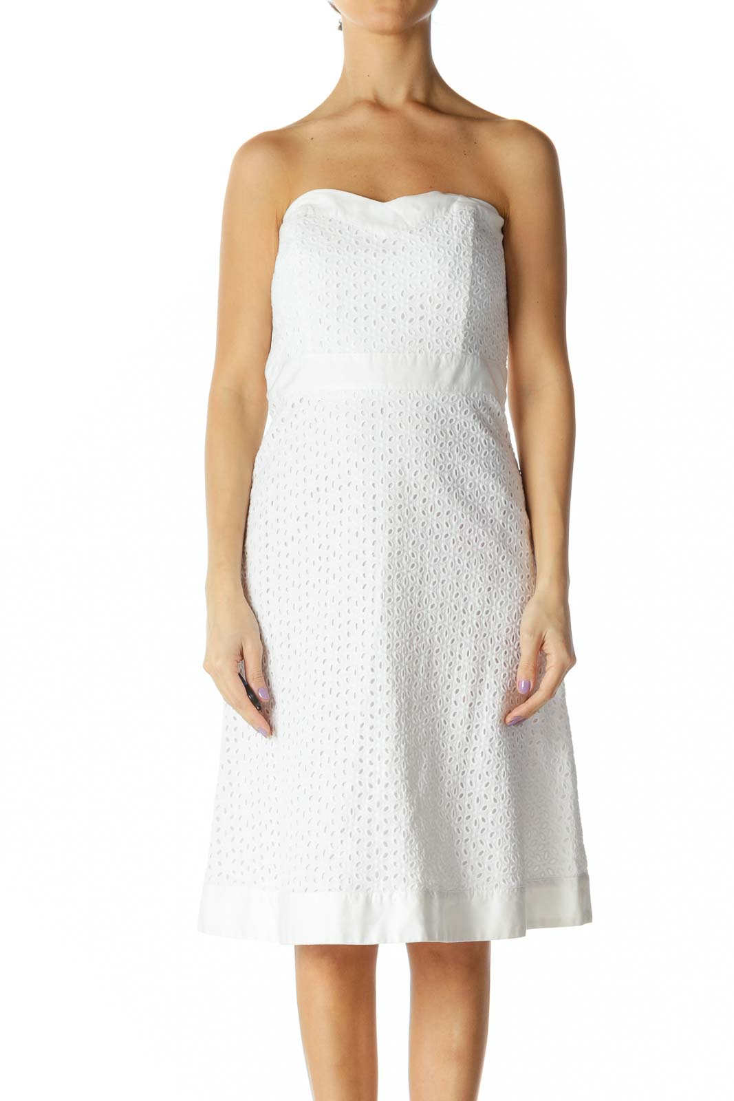 White Chic A-Line Dress