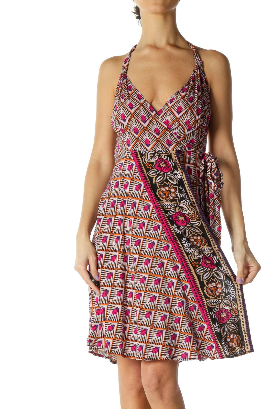 Pink Holiday A-Line Dress
