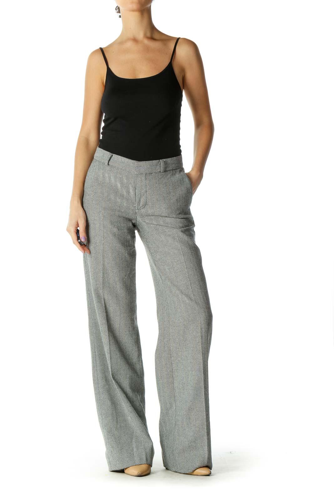 Gray Checkered Trouser