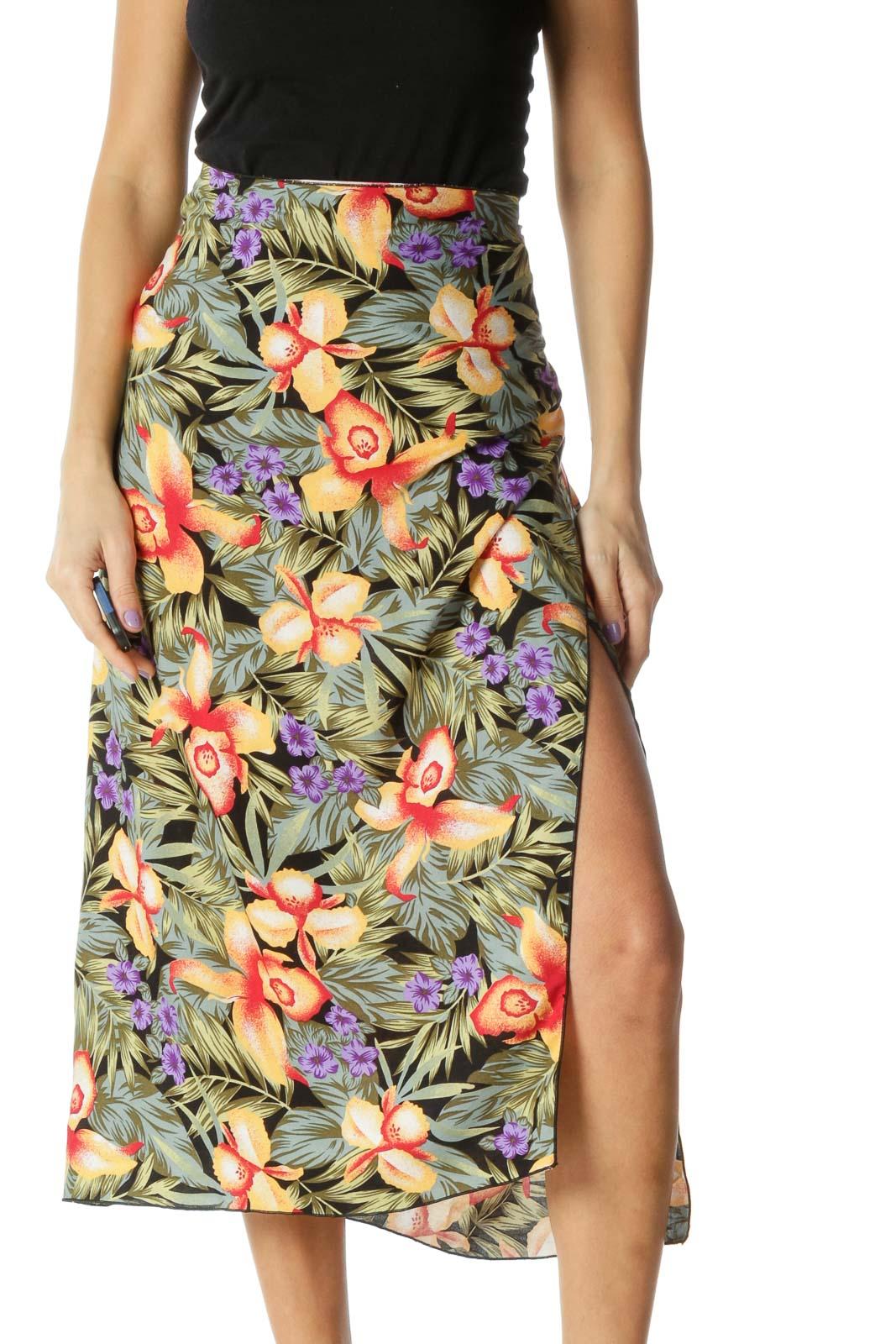Green Holiday Straight Skirt