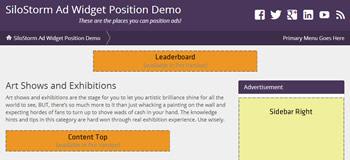 SiloStorm Ad Widget Positions