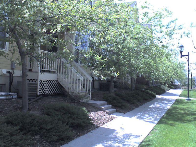 Walkable neighborhood in Denver, CO