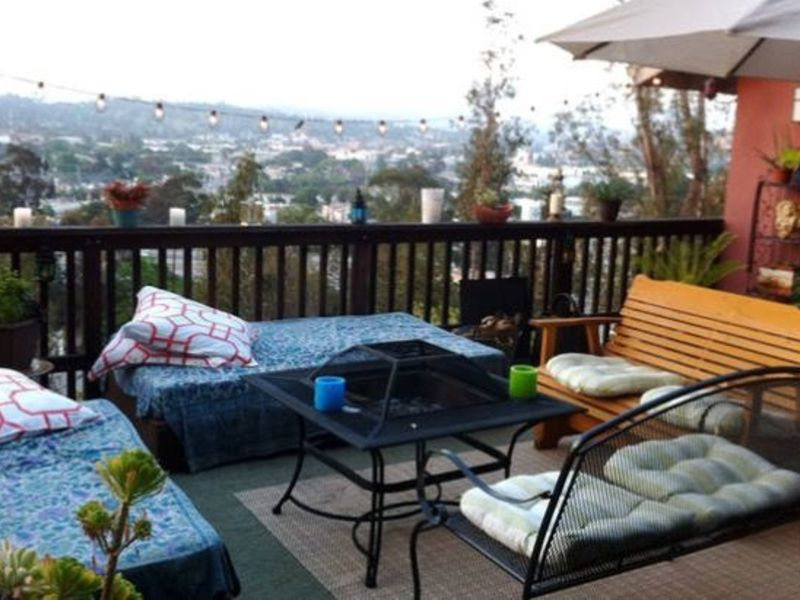 Home on a hill with a view  in Los Angeles, CA