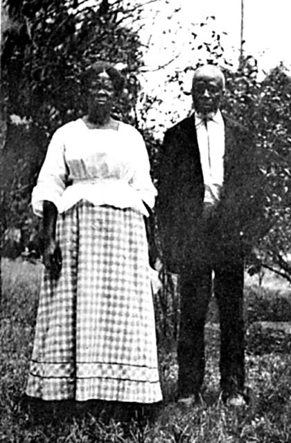 CudJoe Kazoola Lewis and Abache (Clara Turner) 1912.jpg