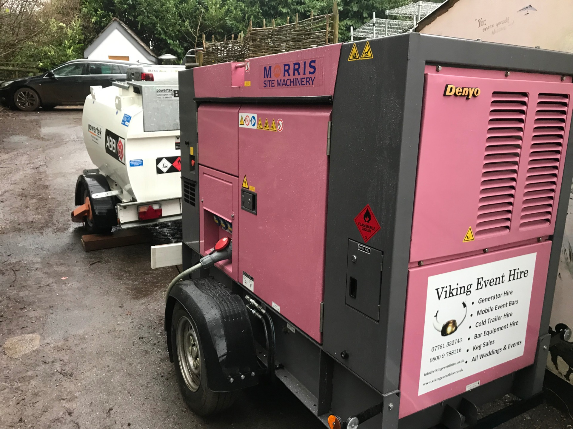 Generator powering a pub kitchen 2019