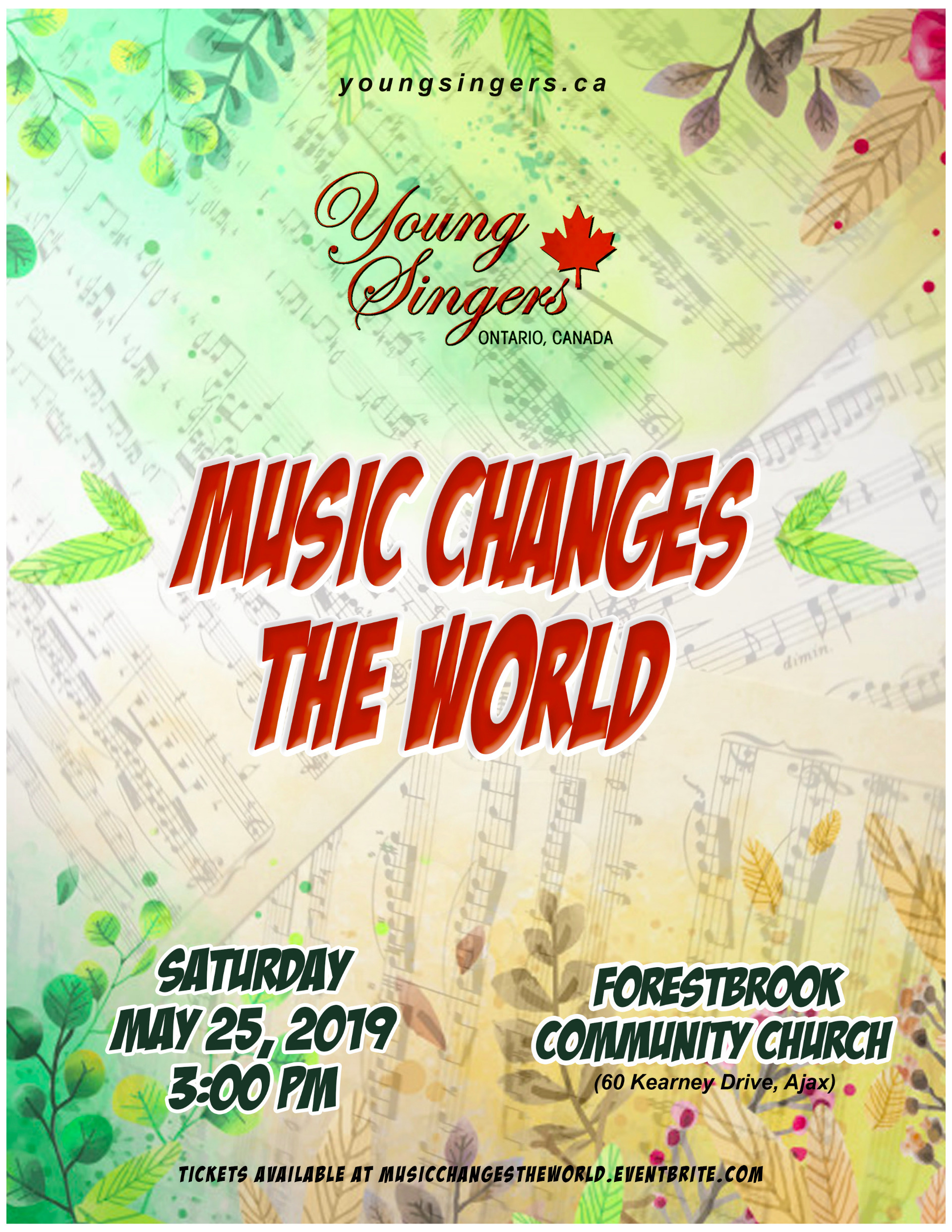Young Singers May 25 Concert