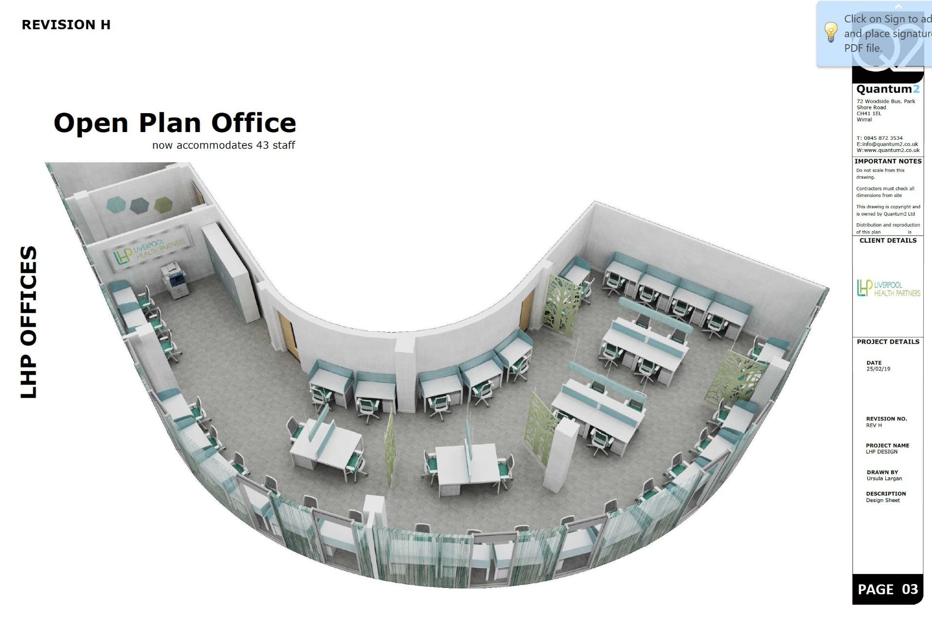 3D Design - LHP Open Plan Office