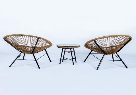 מרטיני 2 כסאות ושולחן