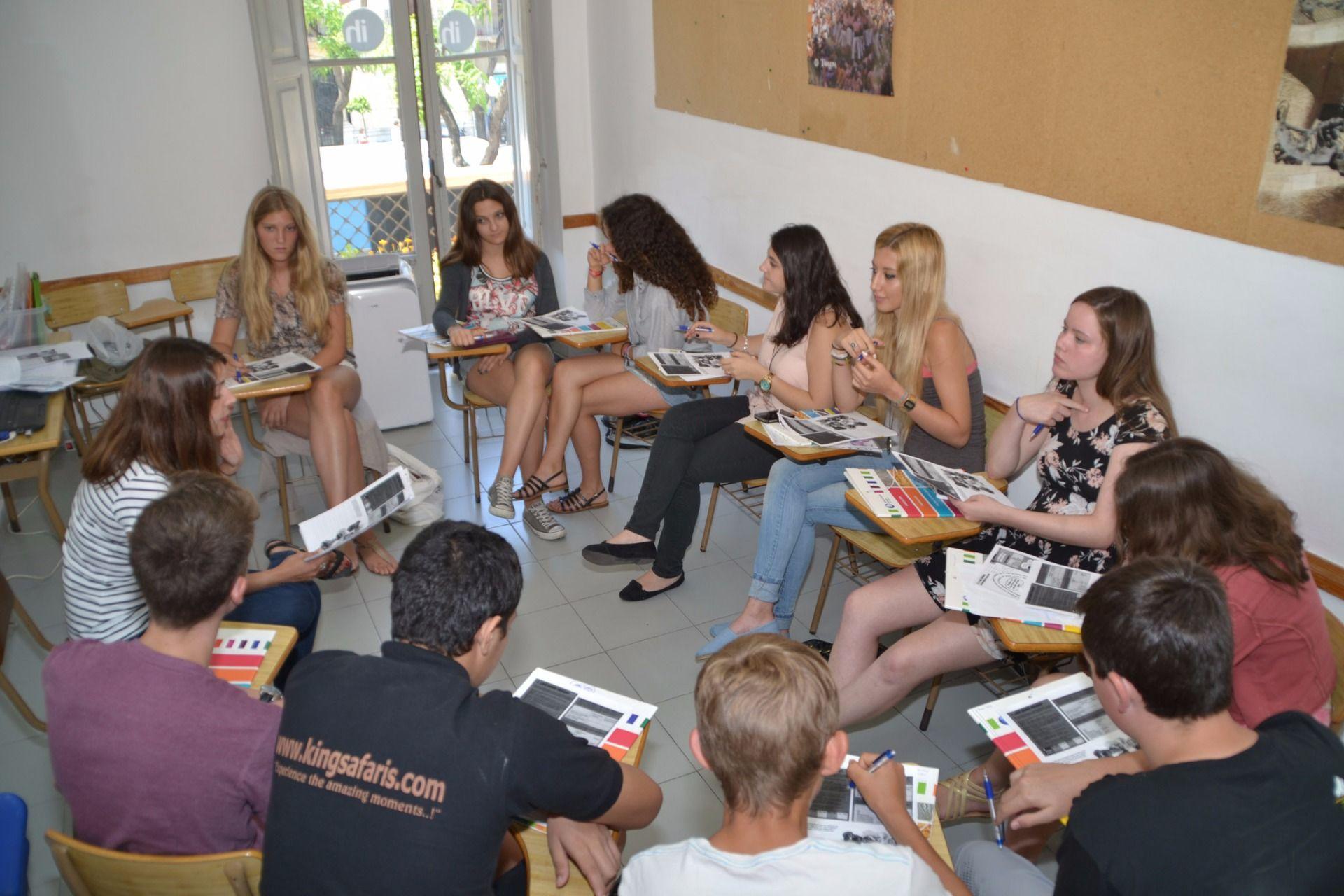 Spanish class for  teens