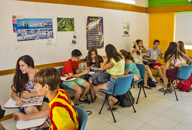 English class in Malta for juniors