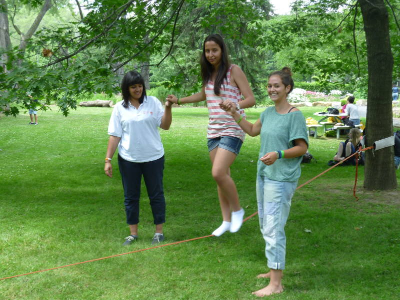 Students on activities