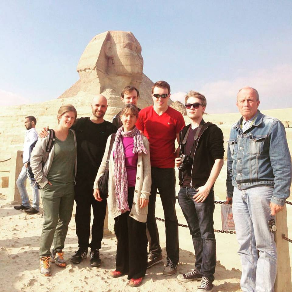 Students in the trip in Egypt