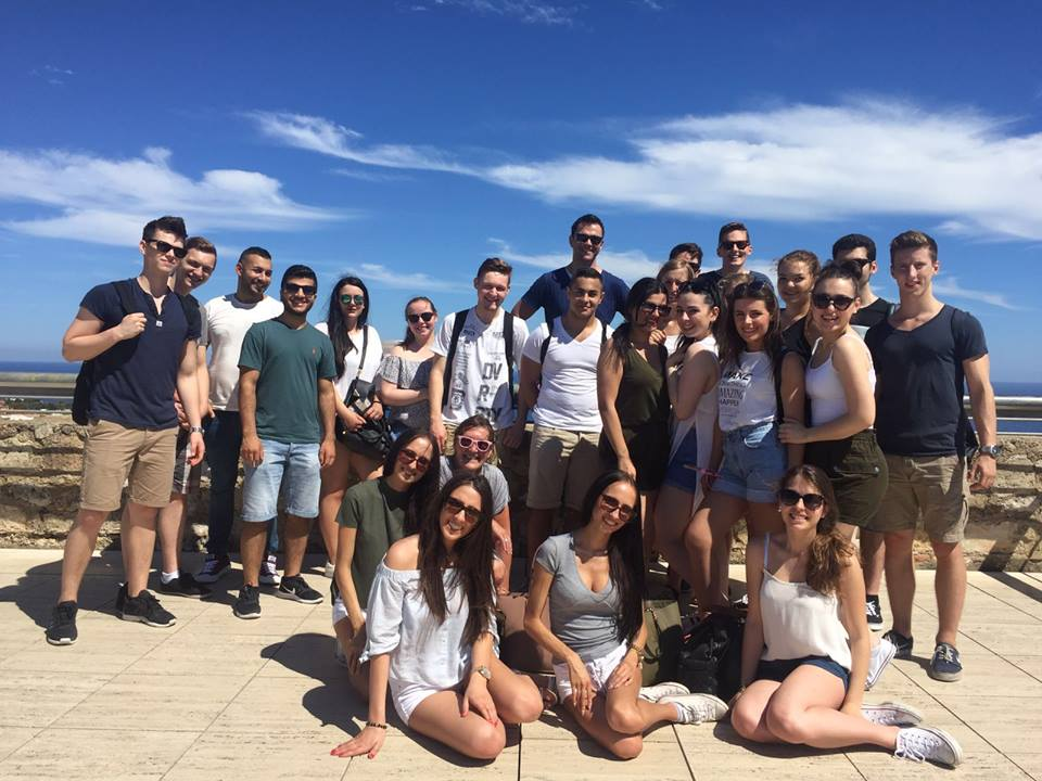Students in Barcelona, trip