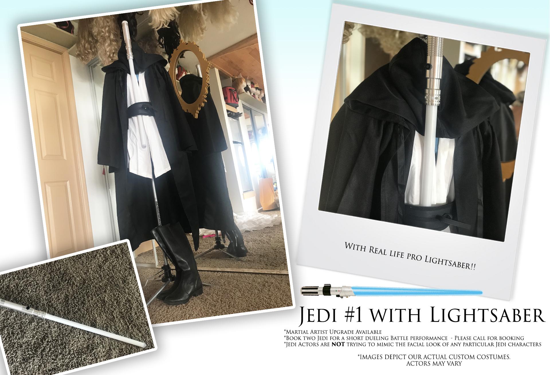 Jedi #1 with Lightsaber