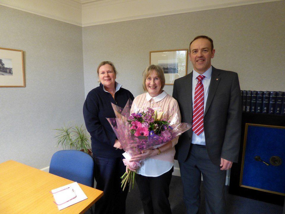 Carol Brock celebrates 30 years of service at Miller Hendry