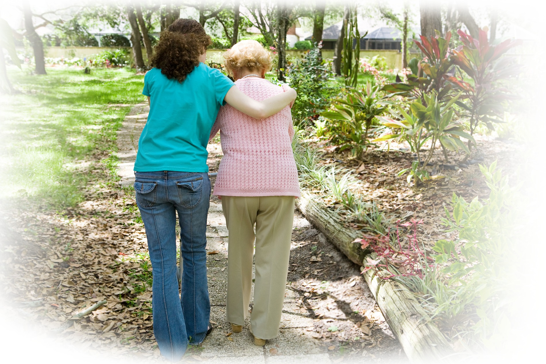 Caregiver providing compassion and safety