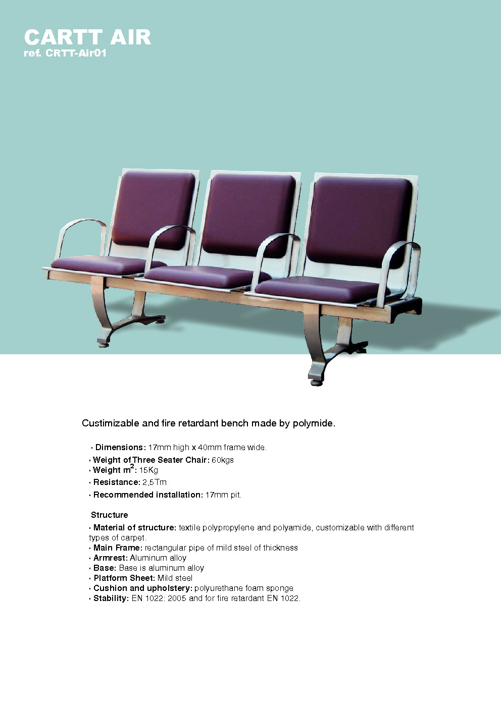 carttec airport-benches