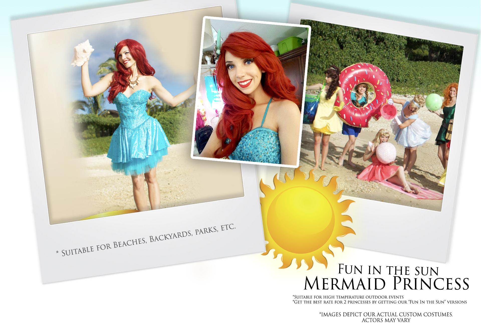 Fun in the sun Mermaid Princess