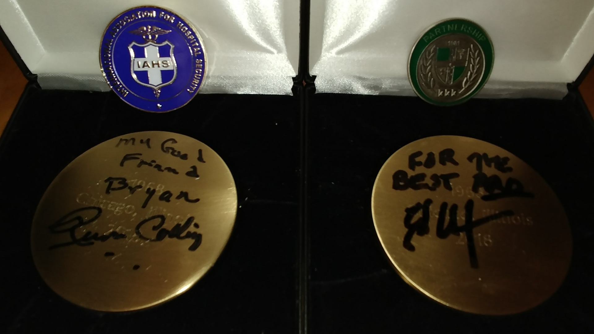 Coins signed by Russ Colling and Ed Stedman