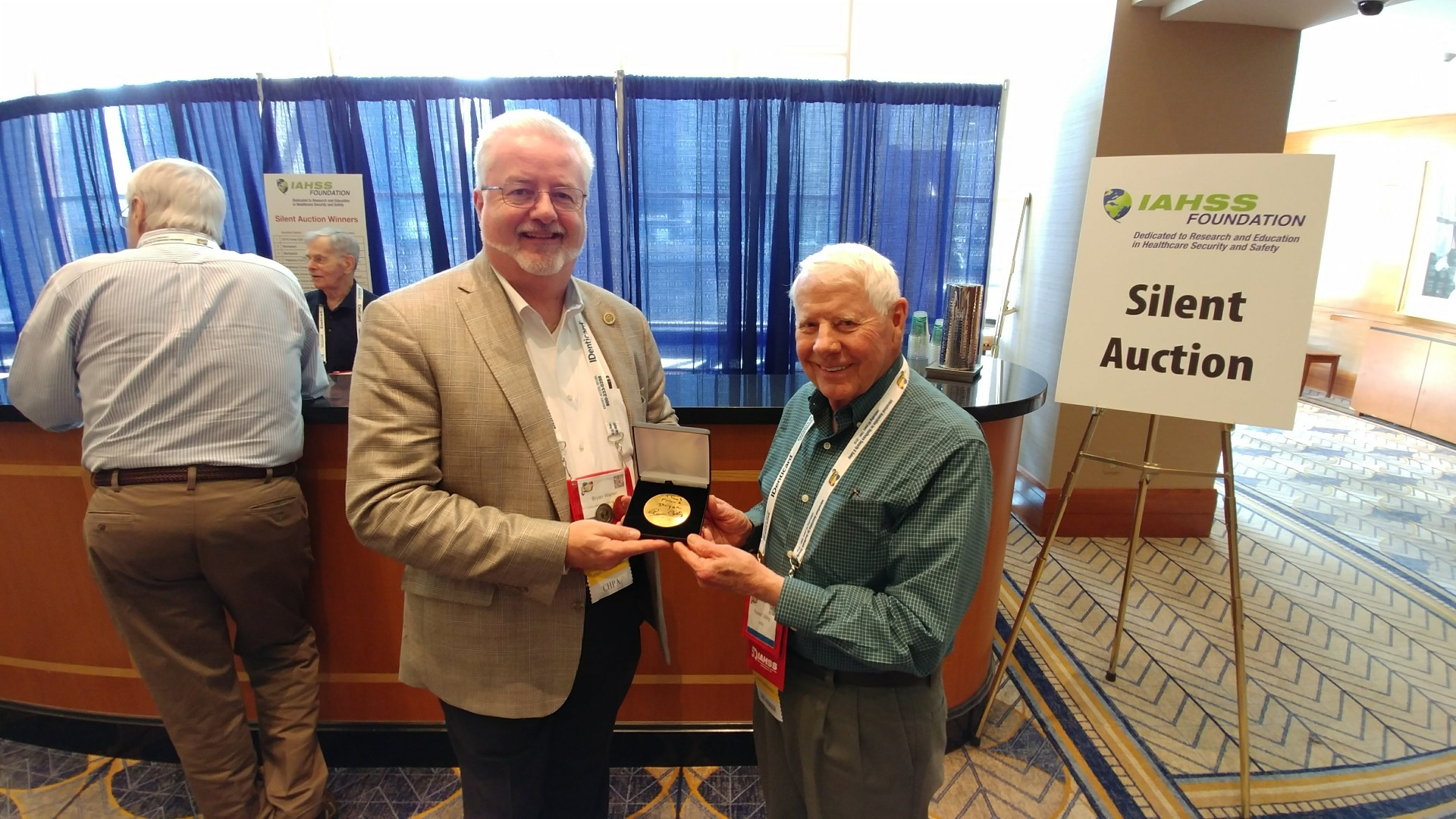 Me and Russ Colling with signed Foundation coin