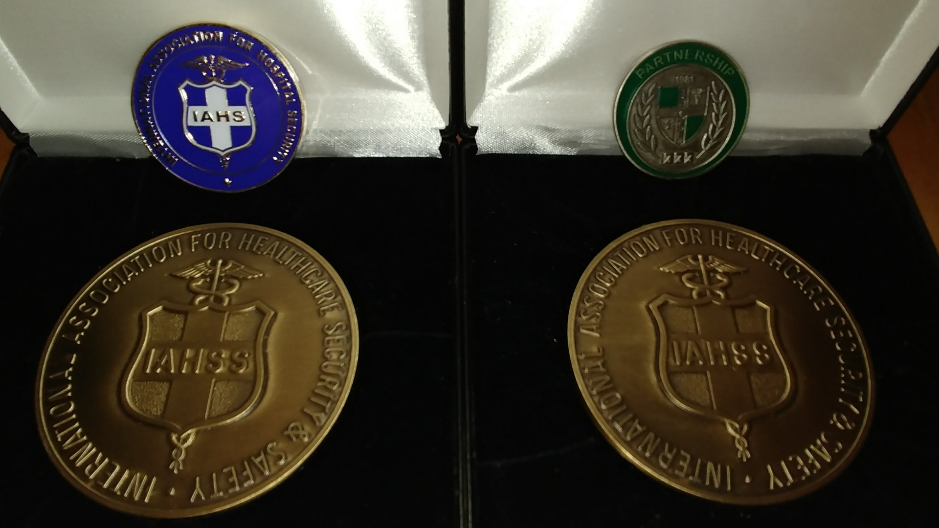 The only two IAHSS 50th Anniversary Foundation coins in existence