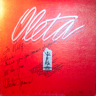 "Oleta's autograph on my copy of her ""Going On Record""-LP"