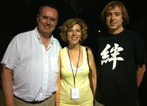 Sole Giménez with Ralf Henke (left) and Felix Mercader Lopez (right)